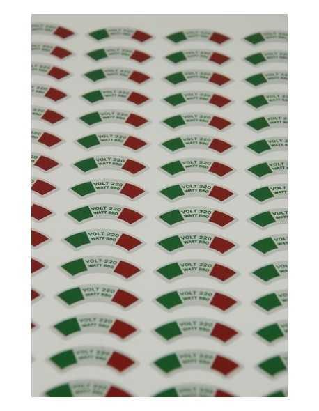 Arrarex Caravel stickers onder 1.1 - 1.3