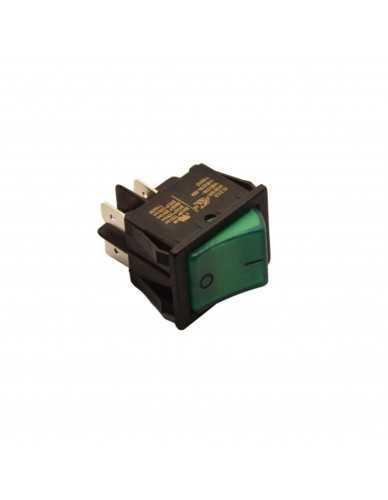 Bipolar switch green 16A 250V
