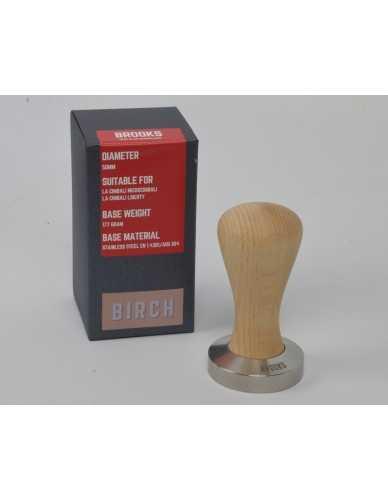 Brooks 50mm tamper met berken handvat