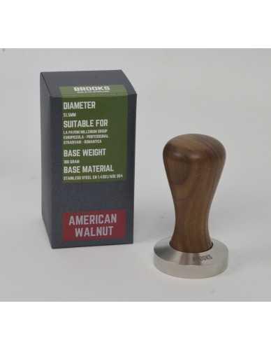 Pavoni millenium tamper 51.5mm American walnut