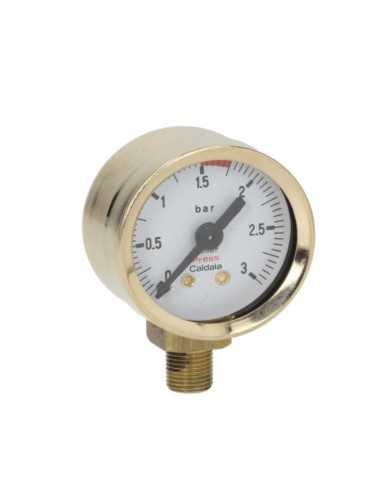 Elektra Microcasa pressure gauge brass