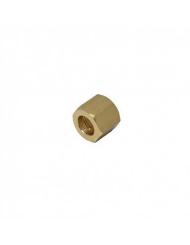 "Brass nut 1/4 for 10mm welding cap"""