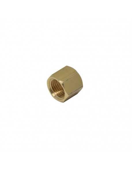 Brass nut 1/4 for 10mm welding cap