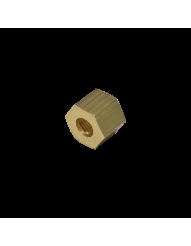 Messing moer 3/8 voor 10 mm soldeer fitting