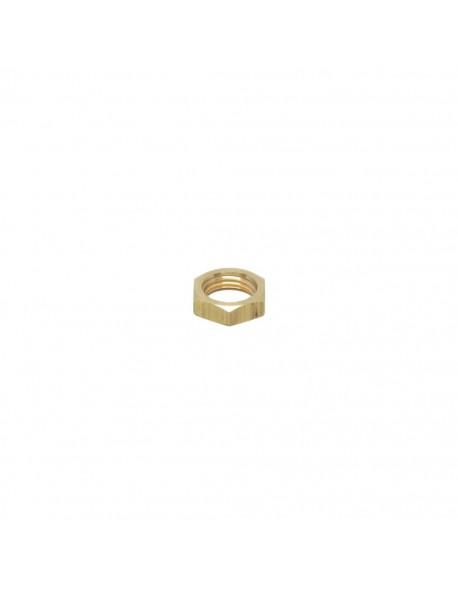 "Brass half nut 1/4"" 5mm hex 17"