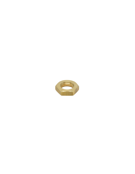 "Brass half nut 1/4"" 5mm hex 20"