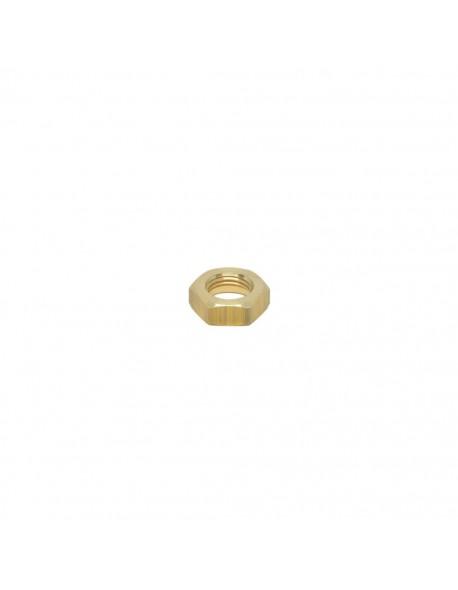 "Brass half nut 1/4"" 7mm hex 20"