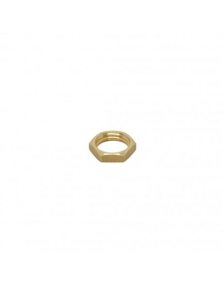 "Brass half nut 3/8"" 5mm hex 20"