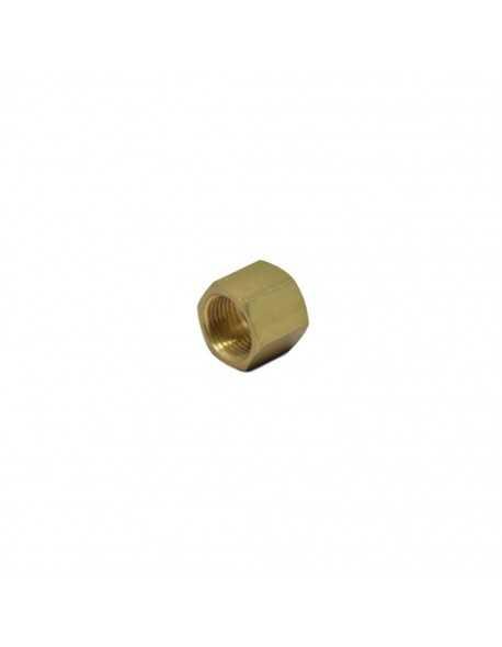 "Brass nut 3/8"" hole dia 12,5mm h 17mm"