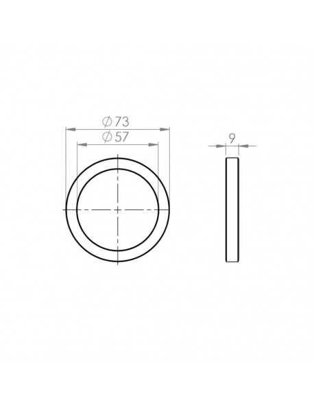 Siebträger dichtung 73x57x9mm