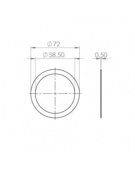 Faema Portafilter gasket suplement 72x58x0.5mm