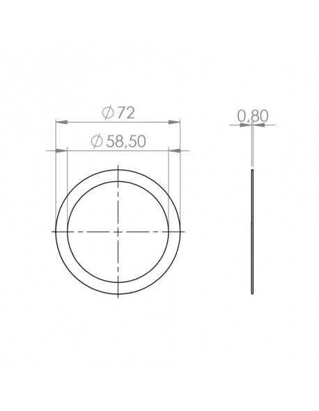 Faema E61 filterholder suplement gasket 0,8mm