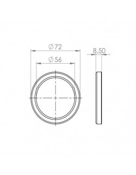 Conti filterholder gasket 72x57x8,5mm