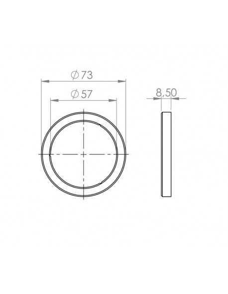 Faema E61 Portafilter pakking plat 73x57x8.5mm