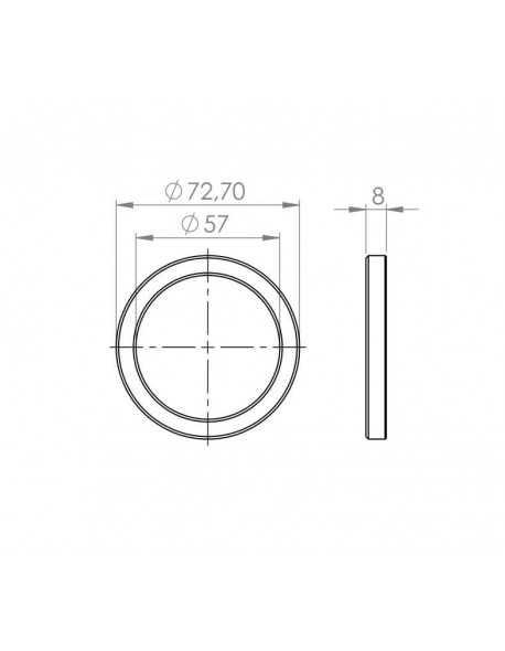 portafilter platte pakking 72.5x57x8 mm