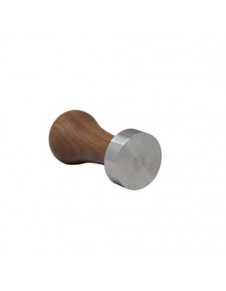 Arrarex Caravel stainless tamper with walnut handle