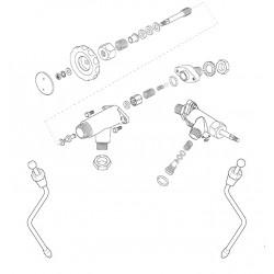 Vibiemme Replica Manuale stoom/water kraan